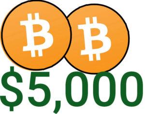 5000 bitcoin